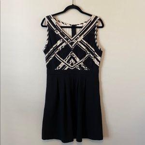 Anthropologie Postmark Black White Lace Dress